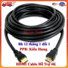 Cáp HDMI Từ 1.5m/3m/5m/10m/15m/20m Loại Xịn Sử Dụng Cho Các Công Trình Tòa Nhà- Tổng Kho Phân Phối Kiến Hưng – hỗ trợ độ phân giải tối đa 4k/60Hz 4096×2160 hỗ trợ 3D dùng cho máy tính, máy chiếu, tivi, tivi box, PS3/4.4 – Vision Tech