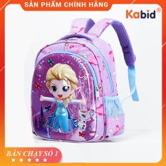 Balo trẻ em hình ELSA cho bé gái NK.EL – Balo trẻ em Dòng cao cấp họa tiết nổi 3D , chất liệu siêu nhẹ , chống nước.