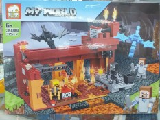 Lego Minecraft jx30080 xếp hình (379 mảnh), chất liệu an toàn cho sức khỏe trẻ nhỏ, cho trẻ thỏa thích vui chơi và sáng tạo