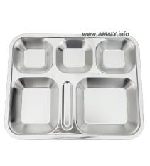 Combo 5 Khay cơm 5 ngăn inox 304