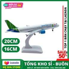 Máy bay mô hình kim loại sáng (Bamboo airway) kích thước 16cm20cm