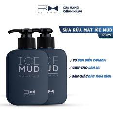 Sữa Rửa Mặt Ngừa Mụn Cho Nam Ice Mud BLUEMAN Chính Hãng – Làm Sạch & Sáng Da