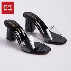 Dép nữ, dép cao gót Erosska quai trong kiểu dáng đơn giản thời trang thanh lịch cao 9cm – EM040(BA)