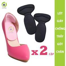 Combo 2 cặp lót giày chống trầy gót chân, chống thốn gót chân và giúp không bị tuột gót khi mang giày cao gót, giày búp bê – Loại 1/2 bàn chân – PK09