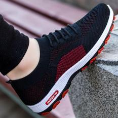 Giày thể thao nam, sneaker nam dáng lười, đế cao su, ma sát cao, đi êm – 3 màu đen, đen đỏ, ghi G111