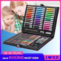 Hộp bút màu 150 chi tiết cho bé yêu, kích thích tư duy của trẻ trong việc lựa chọn màu sắc, chất liệu an toàn không độc hại