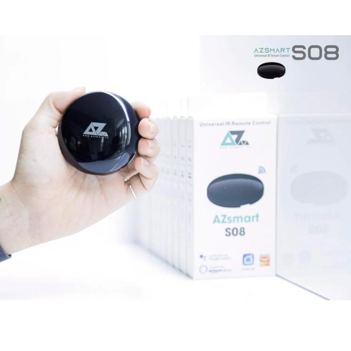 Điều khiển thông minh qua hồng ngoại Smart Remote AZsmart S08 , remote , android , ios , trợ lý ảo , Điều khiển bằng giọng nói