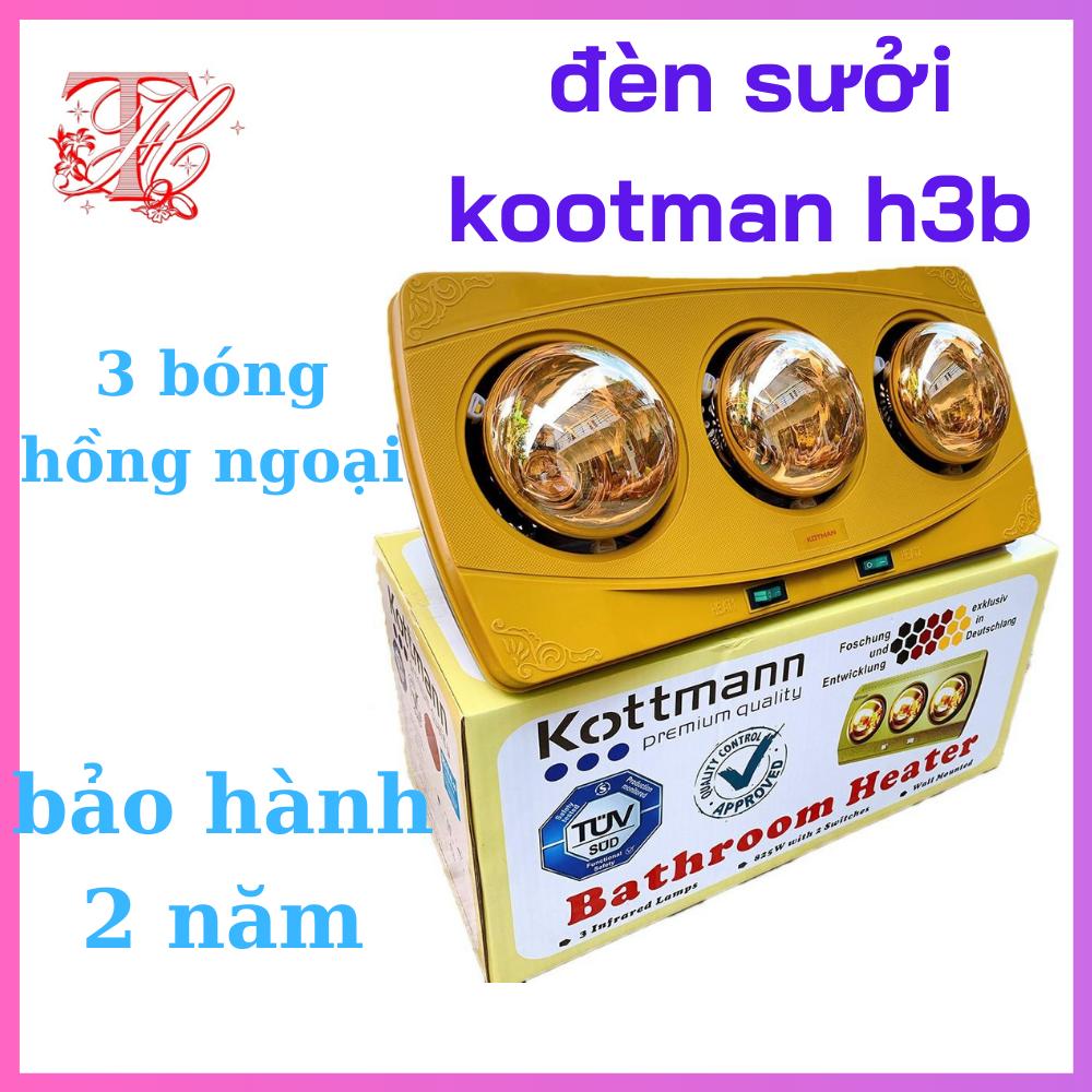 Đèn Sưởi Nhà Tắm Kottman KOTTMAN-H3B Mẫu 3 Bóng Hồng Ngoại