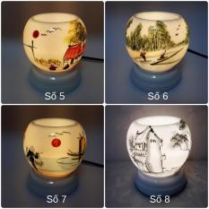Đèn xông tinh dầu sứ Bát Tràng (Chọn mẫu) kiêm đèn ngủ KamiHome Chống muỗi Diệt muỗi miễn phí vận chuyển giao hàng toàn quốc