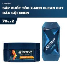 Combo Sáp vuốt tóc X-Men Cleancut 70g và Dầu gội Xmen 70g