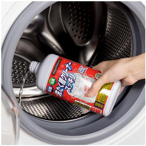 Chai Nước tẩy vệ sinh lồng máy giặt Rocket 99.9% hàng Nội địa Nhật Bản 550 gram, bot tay long...