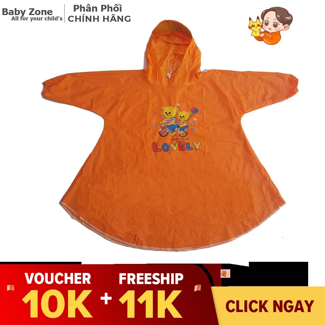 Áo mưa cho bé nhiều màu sắc phù hợp cho cả bé trai và bé gái từ 3 đến 5 tuổi – Baby zone