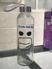 Chai nước thủy tinh 500ml, detox thủy tinh có dây xách