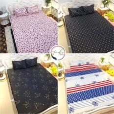 Bộ ga gối drap giường poly, ga trải giường + 2 vỏ gối nằm đơn giản An Như Bedding