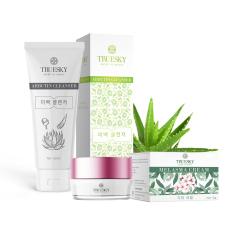[HCM – FREESHIP] Bộ sản phẩm làm mờ nám da mặt Truesky V01 gồm 1 kem nám da Melasma Cream 15g và một sữa rửa mặt nha đam Arbutin Cleanser 60ml