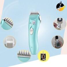 Tông đơ cắt tóc trẻ em chuyên nghiệp chấn viền tốt máy tăng đơ điện sạc pin có dây rời kèm 9 phụ kiện 3 lược chắn viền máy cắt tóc chống nước