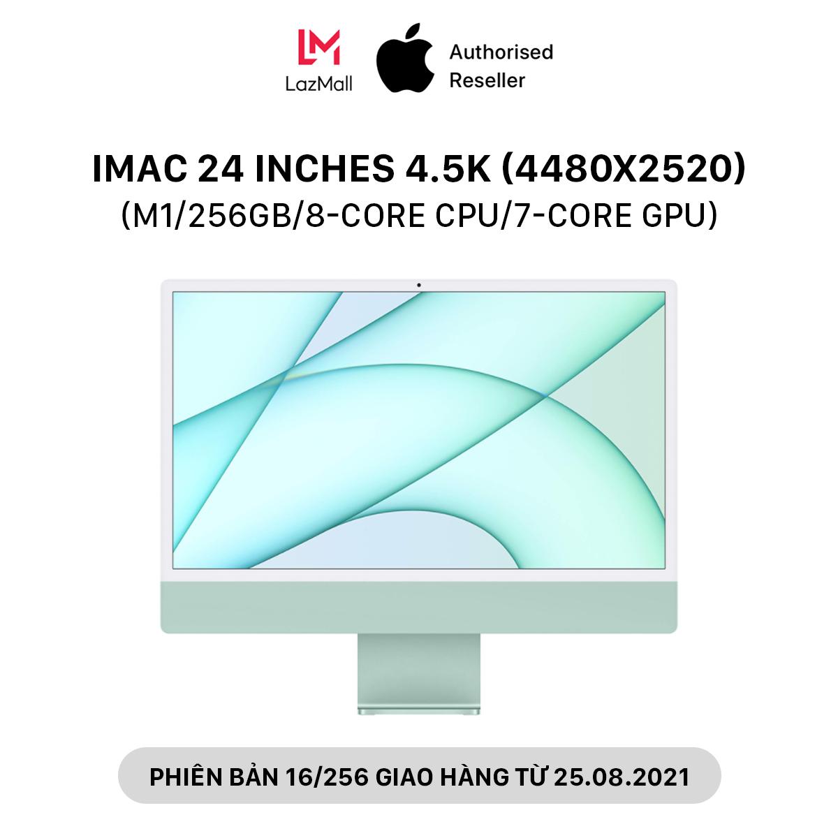 iMac 24 inches 4.5K (4480×2520) M1 Chipset (8GB-16GB/256GB/8-Core CPU/7-Core GPU) l HÀNG CHÍNH HÃNG