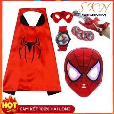 Bộ đồ chơi áo choàng siêu nhân nhện kèm mặt nạ và găng tay cho bé