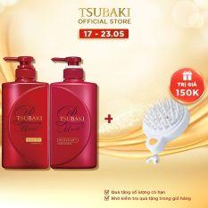 Bộ đôi dầu gội xả dưỡng tóc bóng mượt Tsubaki Premium Moist 490ml/chai