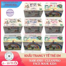 Khẩu trang trẻ em [Hộp 50 cái]❤️ 4 lớp kháng khuẩn, 💯 chính hãng Nam Anh & Cleanpro