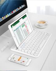 Bàn phím blutooth ipad,PC,điện toại ,pin sạc , có rãnh đỡ , BOW HB206