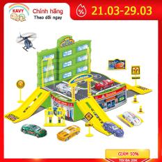 Bộ đồ chơi cho bé bãi đỗ xe ô tô, máy bay kèm chi tiết mô tả đường phố khác- KAVY