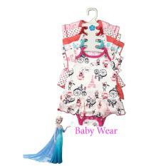 Set 5 Body váy dành cho bé gái BABY WEAR sơ sinh đến 12 tháng ( Màu ngẫu nhiên )