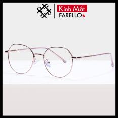 Gọng kính cận FARELLO chất liệu kim loại phụ kiện thời trang nam nữ 29183 nhiều màu