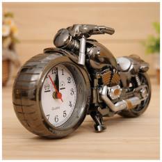 Đồng hồ báo thức hình xe máy, đồng hồ để bàn trang trí sang trọng độc đáo