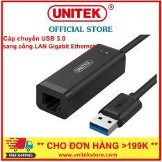 [UNITEK STORE] Đầu Chuyển USB 3.0 ra sang Gigabit Ethernet LAN 100/1000 Mbps Unitek Y-3470