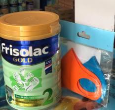 Sữa Bột Frisolac Gold 2 Lon 900g (Dành Cho Trẻ Từ 6-12 Tháng Tuổi) + Tặng 2 Khẩu Trang Vải Trẻ Em Đan Châu