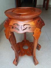 ghế đôn cánh sen gỗ gụ cao 58cmx30cm