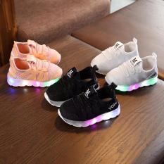 Giày có đèn chữ M moto cho bé