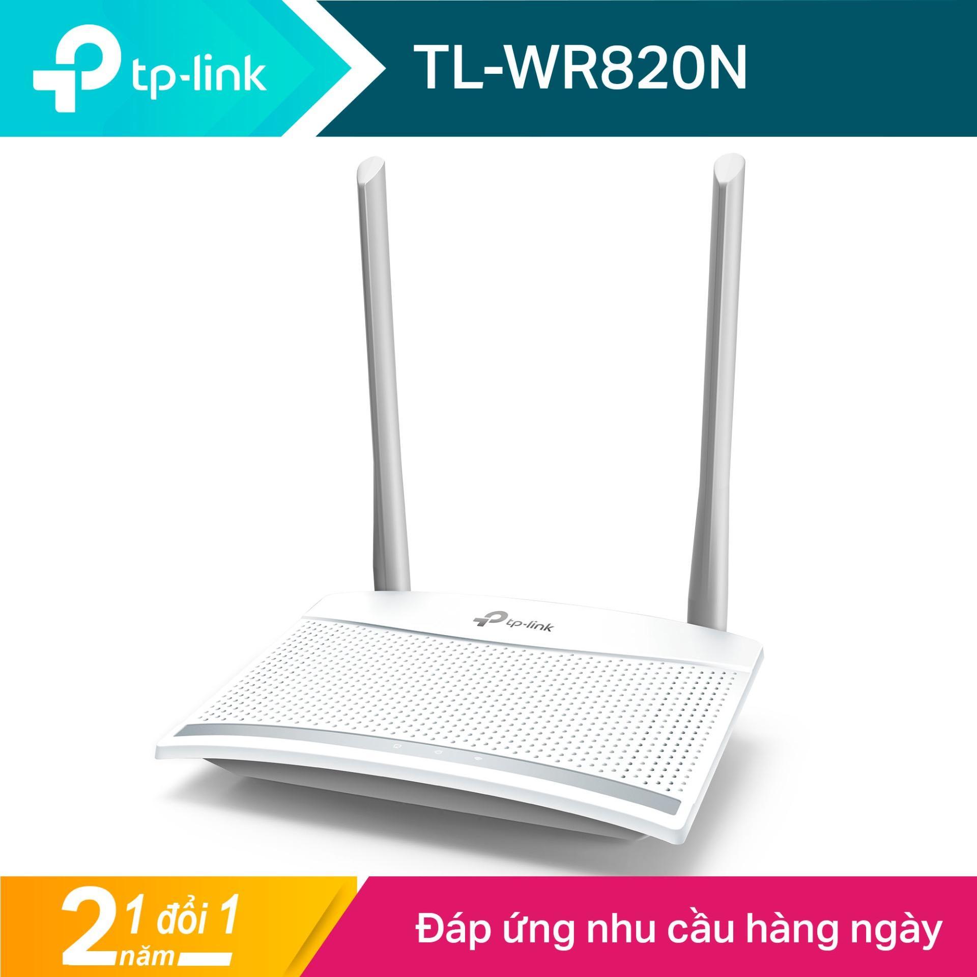 TP-Link Máy Phát Wifi Chuẩn N tốc độ 300 Mbps Có Thiết Kế Tản Nhiệt Độc Đáo TL-WR820N - Hãng...