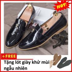 Giày Lười Nam Đẹp Da Bóng Chữ Thập Thanh Lịch M95(L)lzd10