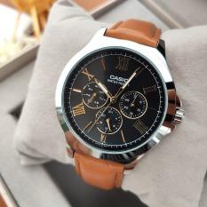 Đồng hồ nam Casio MTP-V300L-1A3UDF Dây da nâu 6 kim nam tính