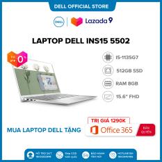 Tặng OFFICE 365 BẢN QUYỀN|TRẢ GÓP 0%|FREESHIP| Laptop DELL INS15 5502 i5-1135G7 Ram 8GD4 512G SSD 15.6FHD Win 10 Bản Quyền/BẠC/(1XGR11)