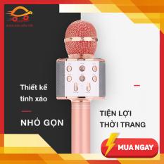 Mic Hát Karaoke Bluetooth Không Dây WS858 – Âm vang – Ấm – mic hát karaoke cầm tay mini