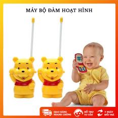 Bộ đàm hình gấu cho bé dùng pin sử dụng như điện thoại bộ gồm 2 cái – OT152
