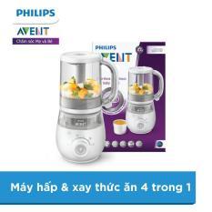 Máy hấp và xay thức ăn 4 in 1 Philips Avent SCF875/02