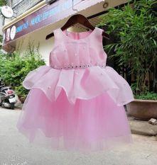 Sale xả kho đầm váy bé gái, đầm công chúa đính eo cực xinh cho bé từ 8kg đến 20kg (màu đỏ, hồng)