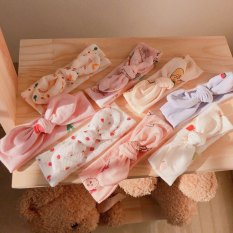 Turban buộc nơ cho bé chất liệu cotton co giãn 4 chiều