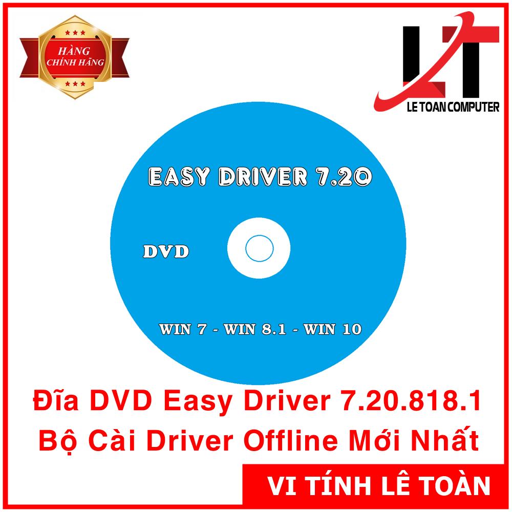 Đĩa DVD Easy Driver 7.20.818.1 – Bộ Cài Driver Offline Cho Kỹ Thuật Viên IT