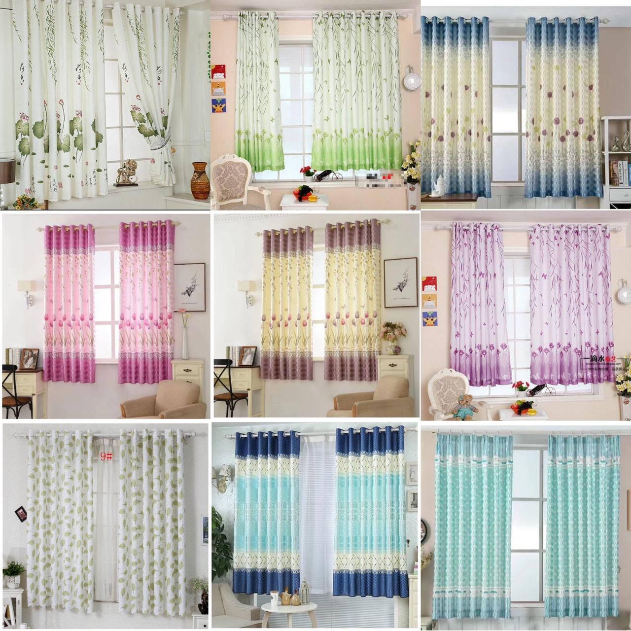 Rèm vải treo cửa chống nắng tốt 99% vải dày (có sẵn khoen) 1m x 2m cao HY1000