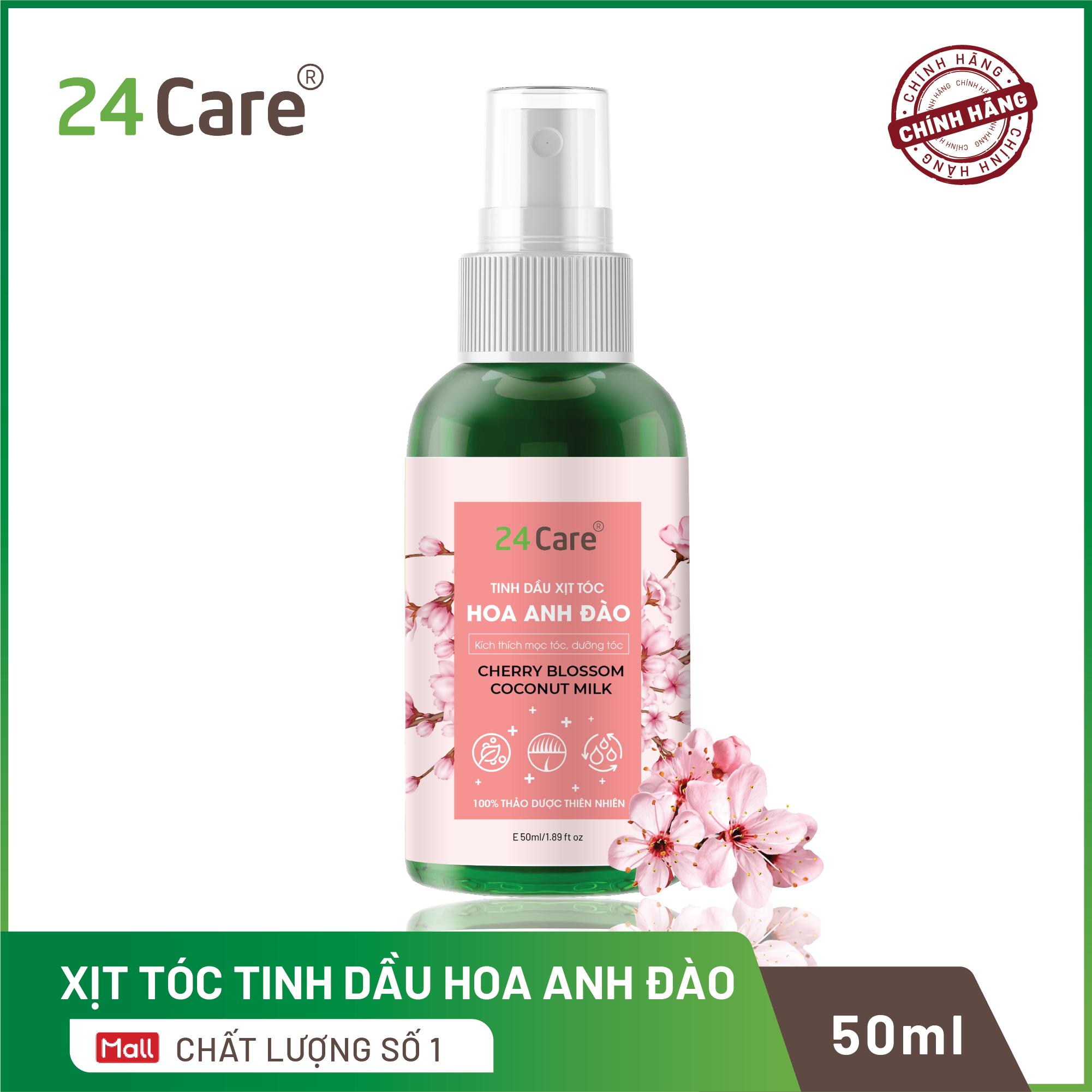 Xịt tóc Tinh Dầu hương Hoa Anh Đào 50ml – thơm tóc, hạn chế bạc tóc, nuôi dưỡng mái tóc chắc khỏe
