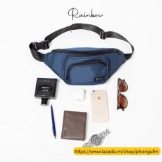 Túi đeo chéo nam đa năng Rainbow BG006 chất liệu canvas chống nước, thời trang unisex nam nữ