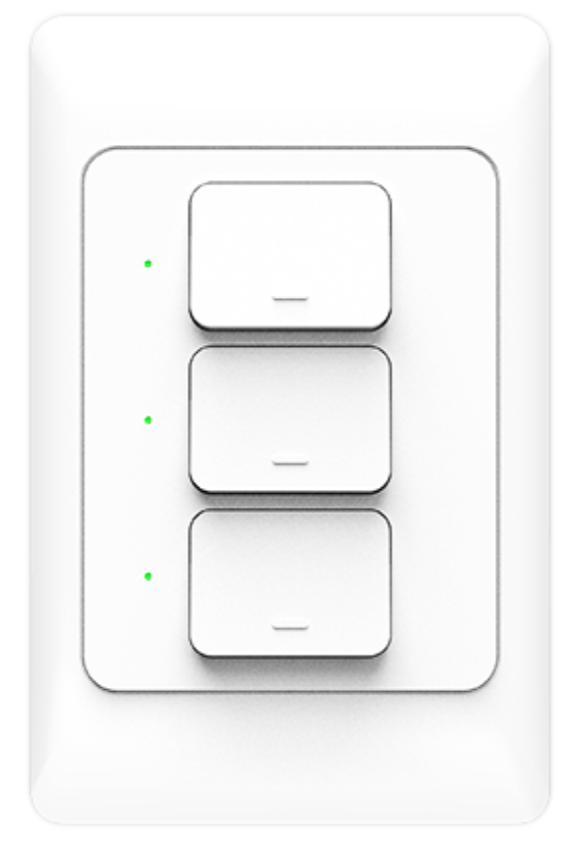 Công tắc cơ chữ nhật SmartZ MS5 màu trắng 3 nút