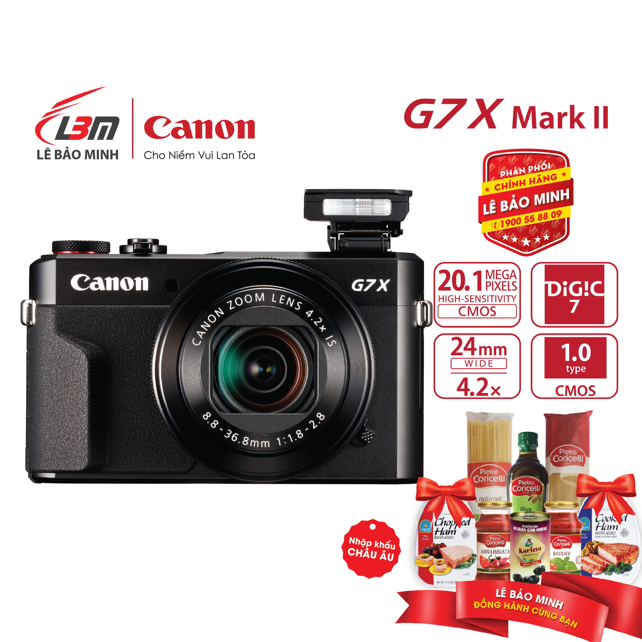 Máy ảnh Canon Powershot G7X MKII – Chính Hãng Lê Bảo Minh