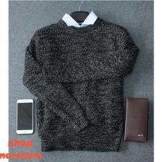 Áo len nam màu đen,áo len tiêu dày mới