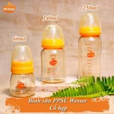 Bình sữa Wesser cổ hẹp PPSU 60ml/ 140ml/ 250ml không BPA an toàn cho bé – BEEKIDS PLAZA
